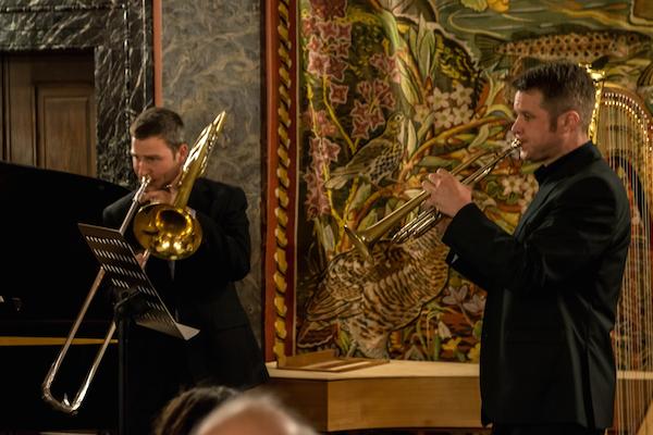v.l.n.r.: Quirin Willert, Posaune; Thomas Lindl, Trompete