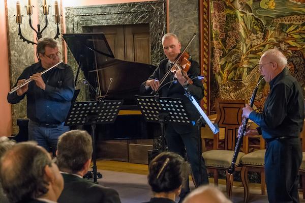 v.l.n.r.: Christoph Heptner, Querflöte; Bernhard Lindner, Viola; Reinhard Klamet, Englisch-Horn